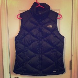 North Face puffy vest size small